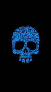 blue skull wallpaper posted by samantha
