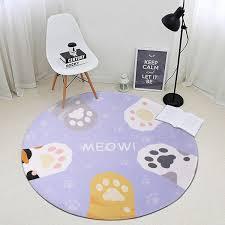 catoon cute cat round carpet bedroom