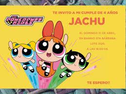 20 Invitaciones Chicas Superpoderosas Cumpleanos 480 00 En