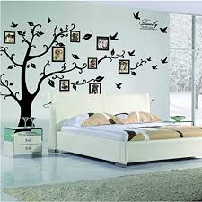 Amazon Com Large Family Tree Wall Decal Peel Stick Vinyl Sheet Easy To Install Apply History Decor Mural For Home Bedroom Stencil Decoration Diy Photo Gallery Frame Decor Sticker By Lacedecal