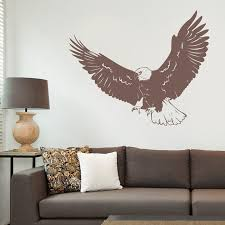 Realistic Eagle Wall Decal Eagle Decal American Bald Eagle Etsy