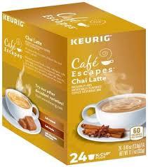 cafe escapes chai latte k cup pods