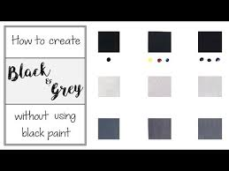grey without using black paint