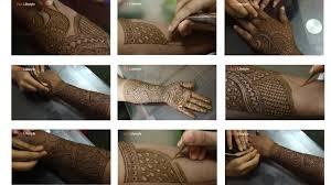 bridal mehndi design tutorial step by step
