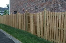 6 Foot High Picket Fence With French Gothic Posts And A Scallop Dip Hercules Fence