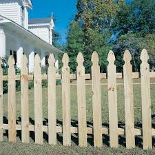 11 16 In X 3 1 2 In X 3 1 2 Ft Pressure Treated Pine French Gothic Fence Picket 0410600 The Home Depot
