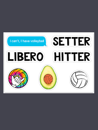 I Can T I Have Vb Sticker Pack Midwest Volleyball Warehouse