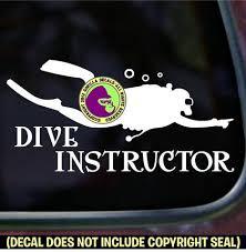 Dive Instructor Scuba Diver Diving Vinyl Decal Sticker Gorilla Decals
