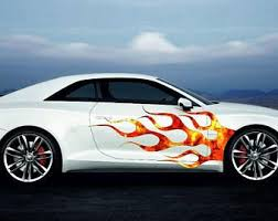 Vinyl Car Side Body Graphics Decal Sticker Flame 4 Black Fit Etsy In 2020 Car Graphics Decals Vinyl Wrap Car Car