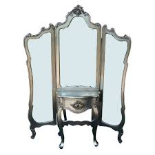 antique silver dessing table and mirror