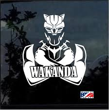 Marvel Black Panther Wakanda Window Decal Sticker Custom Sticker Shop