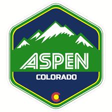 A Aspen Co Colorado Oval Car Window Bumper Sticker Decal 5 X 3