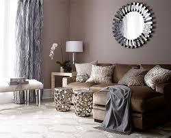 brown living room decor
