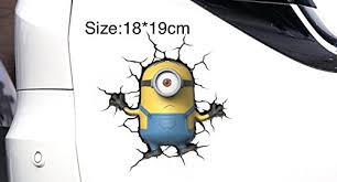 Mesasa Minions Decal 3d Water Proof Sticker For Car Window Laptop Trucks Vans Walls Laptop Decoration 1819cm Wantitall
