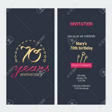 Invitacion De Aniversario De 70 Anos A La Ilustracion De Vector De