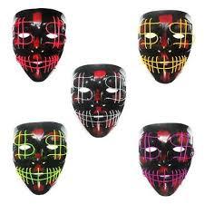 el dollar symbol glow mask