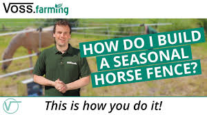 Seasonal Electric Fence For Horses This Is How You Do It Youtube
