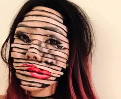 makeup artist creates unreal 3d