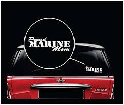 Proud Marine Mom Usmc Vinyl Window Decal Sticker Sticker Flare Llc