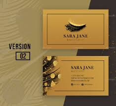 luxury makeup artist business card by