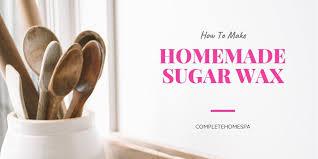 homemade sugar wax for smooth skin