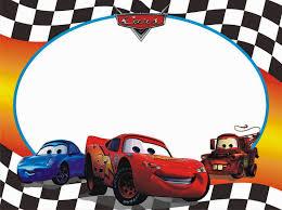 Invitaciones O Marcos Para Fotos De Cars Para Imprimir Gratis Cars Birthday Invitations Car Birthday Party Invitations Cars Birthday