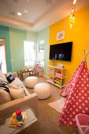 Creative And Colorful Playroom Kid Friendly Family Room Family Room Design Family Room