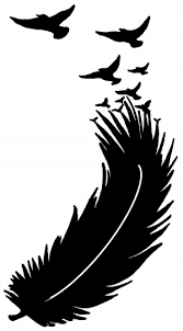 Feather Turning Into Birds Car Or Truck Window Decal Sticker Or Wall Art Decalsrock