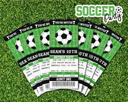 Soccer Invitation Soccer Birthday Soccer Party Ticket Invitation