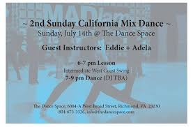 2nd Sunday California Mix Dance with WCS Lesson by Eddie + Adela at The  Dance Space, Richmond