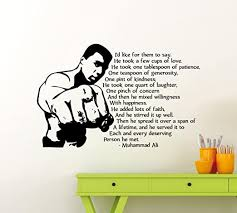 Amazon Com Muhammad Ali Quote Wall Vinyl Decal Champions Gym Motivational Fitness Vinyl Sticker Cassius Clay Inspirational Home Sport Gym Art Decor Lettering Boxer Boxing Quotes Mural Vinyl Sticker 162ex Home Kitchen