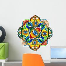 Colorful Mandala Gods Eye Wall Decal Wallmonkeys Com