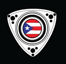 Puerto Rico Car Decal Sticker Rotary With Puerto Rican Flag 315 Ebay