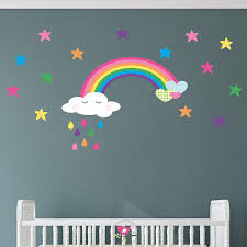 Rainbow Wall Stickers Australia Decals Large Uk For Nursery Design Nz Giant Not On The High Street Vamosrayos