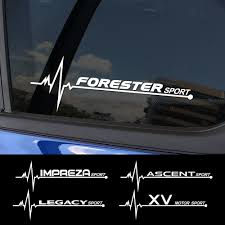 2pcs Car Sticker Side Window Decor Reflective Decal For Subaru Forester Impreza Xv Ascent Legacy Brz Outback Wrx Car Accessories Aliexpress