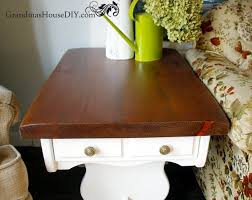 before and after two end tables get a