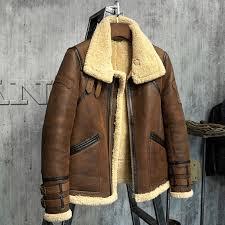 fur coat men s shearling jacket b3