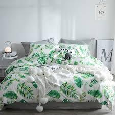 white fern leaf print modern chic
