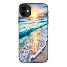 Skin For Apple Iphone 11 Skins Decal Vinyl Wrap Stickers Cover Sunset On Beach Walmart Com Walmart Com