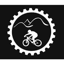 Mountain Bike Downhill Cross Country Chain Ring Vinyl Decal Sticker Mountainbikeshirt Mountain Bike Tattoo Bike Tattoos Mountain Bike Art