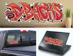 Arizona Diamondbacks Graffiti Baseball Vinyl Car Laptop Wall Etsy