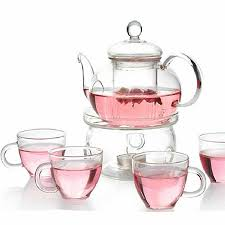 borosilicate glass teapot tea