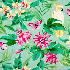 green and pink tropical birds pvc