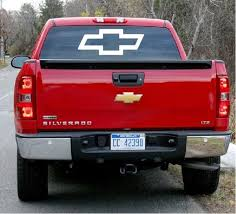 Chevy Chevrolet Bowtie Rear Truck Decal Sticker Custom Sticker Shop