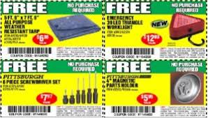 free items at harbor freight free