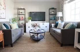 living room update jute rug addition