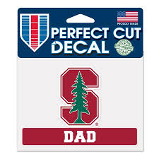 Wincraft Stanford Cardinal Official Ncaa 4 5 Inch X 5 75 Inch Dad Perfect Cut Car Decal By Wincraft Walmart Com Walmart Com