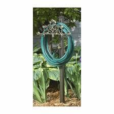 post mount hose holder station with