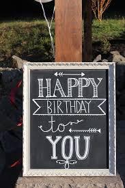 happy birthday chalkboard diy pretty