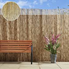 Natural Peeled Reed Bamboo Screening Garden Privacy Screen Fence 4m Wide Panel Ebay